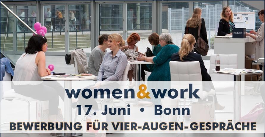 Vier-Augen-Gespräche mit Top-Arbeitgebern bieten spannende Karrieremöglichkeiten auf der women&work