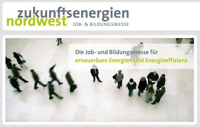 Die zukunftsenergie nordwest, Deutschlands größte Job- und Bildungsmesse für erneuerbare Energien und Energieeffizienz am 20. und 21. März 2015 in Bremen