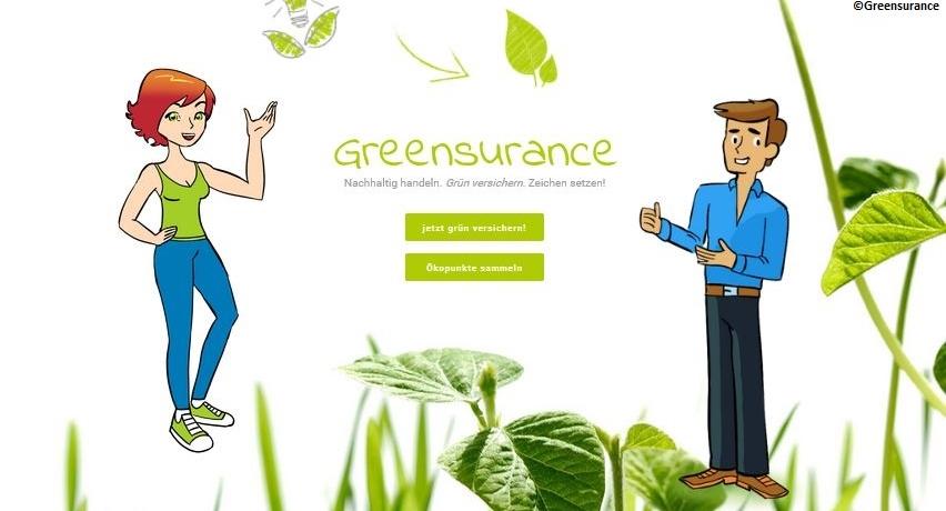 Grünes Versicherungsangebot von Greensurance