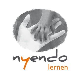 Logo nyendo. lernen hand in hand gUG